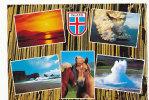 Islande. Mosaïque. Myvatn, Surtsey, Dyrholaey, Strokkur - Islande