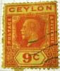 Ceylon 1912 King George V 9c - Used - Ceylon (...-1947)