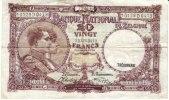Belgium #111 20 Franc Banknote Currency, 13.02.43 1943 - [ 2] 1831-... : Belgian Kingdom
