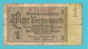 GERMANIA  BANCONOTA DA 1 FINE RENTENMARK - Unclassified