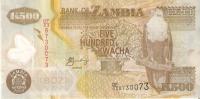 BILLETE DE ZAMBIA DE 500 KWACHA   (BANKNOTE) POLIMERO - Zambia