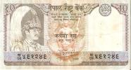 BILLETE DE NEPAL DE 10 RUPIAS  (BANKNOTE) - Nepal