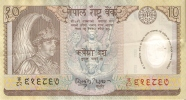 BILLETE DE NEPAL DE 10 RUPIAS  (BANKNOTE) POLIMERO - Nepal