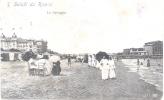 SALUTI DA RIMINI LA SPIAGGIA CPA CIRCULEE 1912 A CLAIRE S. ROUZAUT ROSARIO DE SANTA FE L'ARGENTINE RARISIME PRECURSEUR - Rimini