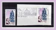 """Variété N° YT N° 3712 Obl """" Cathédrale De Luçon : ROSE ET BLEU DECALES VERS LA DROITE  """". - Variétés Et Curiosités"""