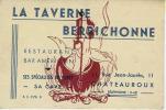 """36/ INDRE...Carte De Visite """" La Taverne Berrichonne"""" Rue Jean Jaurès à CHATEAUROUX - Cartes De Visite"""