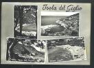 ISOLA DEL GIGLIO Saluti Con 4 Vedute Cartolina Viaggiata 1959 - Italia