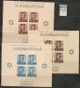 MAROC - 1937-9 TIMBRES DE BIENFAISANCE Au Profit Des Mutilés - GENERAL FRANCO - Blocs Yvert # 3/4/5 - MINT (H) - Marruecos (1956-...)