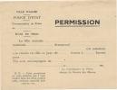 PROSTITUTION.ALGERIE . FORMULAIRE - Documents Historiques