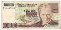 100000 Lira - 1970 - Turquie