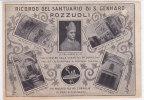 CARD  POZZUOLI RICORDO DEL SANTUARIO DI S.GENNARO CON VEDUTINE E SAN GENNARO -FG-V-2 - 0882-12148 - Pozzuoli