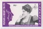Mozart, Marcella Sembrich As Zerlina In Don Giovanni Opera, Masonic Stamp, Freemasonry MNH Tanzania - Franc-Maçonnerie