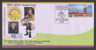 India 2010 LORD & LADY BADEN POWELL RAILWAYS JUMBORETTE Cover #28933  Indien Inde - Scouting