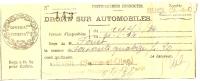 REF LBR31 - CONTRIBUTIONS DIRECTES DROIT SUR AUTOMOBILES RUEIL 6  JUILLET 1934 - Vieux Papiers