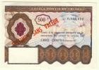LBR32 - CHEQUE POSTAL DE VOYAGE DE 500FR - SPECIMEN SANS VALEUR - Monnaies & Billets