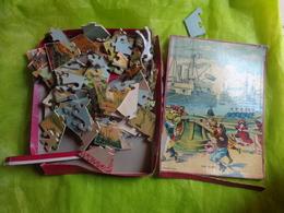 Puzzle Ancien Imcomplet Decor De Vitrine--theme Meunier-ane-combat-chien Des Montagnes-ane-JR Paris- Tourangelle Tours - Jouets Anciens