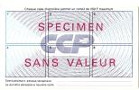 LBR32 - SPECIMEN SANS VALEUR DE CARTE DE PAIEMENT DES CHEQUES DE DEPANNAGE DES CCP - Non Classés