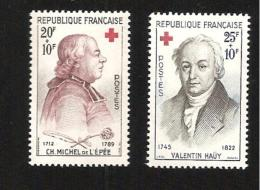 Croix Rouge YT N°1226/1227  Neuf ** - Unused Stamps