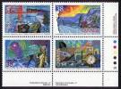 1989  Canadian Explorers: Matonabbee, Franklin, Tyrell, Stefansson   Sc 1233-6 Se-tenant Plate Block  MNH ** - 1952-.... Règne D'Elizabeth II