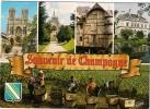 CPM Souvenir De CHAMPAGNE Avec Vues De Reims, Dormans, Epernay,.... Ed. Estel - Champagne - Ardenne