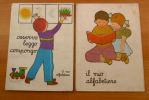 VECCHI PIEGHEVOLI DEI PRIMI ANNI DI SCUOLA - ALFABETIERE OSSERVO LEGGO COMPONGO - - Vecchi Documenti