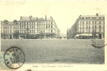 CPA LILLE - PLACE SEBASTOPOL ET RUE INKERMANN - Lille