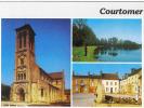Carte Postale 61. Courtomer  L'étang De L'Oisier  Place Albert Roger  L'église  Trés Beau Plan - Courtomer