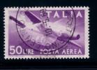 ITALIA 1957 - POSTA AEREA N°154  DEMOCRATICA TIPO DEL 1947 FILIGRANA A STELLE -  USATO - Posta Aerea