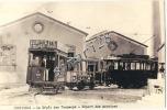 PERPIGNAN - PHOTO 25 X 16 - DEPOT DES TRAMWAYS - DEPART DES MOTRICES - Perpignan