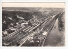 LEROUVILLE (55) - CPSM Dentelée GF Peu Fréquente : (rare ?) La Gare Et Le Port,, Vue Aérienne  (Meuse) - Lerouville