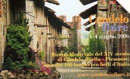 *ITALIA: BORGHI PIU' BELLI D'ITALIA - CANDELO IN FIORE* - Scheda Usata - Italia