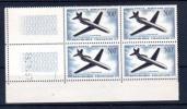 500F « Caravelle », Bloc De 4 Du  PA 36 **, Cote 140 €  Superbe - Poste Aérienne