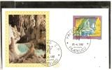 FDC  ITALIA 1982  FDC  TURISTICA GROTTE DI FRASASSI  SERIE FILAGRANO GOLD  PRIMO GIORNO DI EMISSIONE  FIRST DAY ITALY - F.D.C.