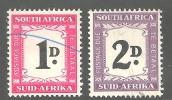 SOUTH AFRICA UNION 1950 Used Stamps Postage  Due Hyphenated 38-39 2 Values Only (not Complete) - South Africa (...-1961)
