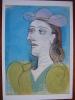 Picasso, Pablo  Woman With A Hat 1938 Berggruen Collection Berlin Art Postcard - Peintures & Tableaux