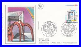 2579 (Yvert) Sur FDC Illustrée Sur Soie - Monuments De La Capitale. Arche De La Défense - France 1989 - FDC
