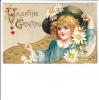 Valentine Greeting Daisy Embossed Girl Humphrey - San Valentino