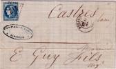 HERAULT-BEDARIEUX DU 15 MAI 1871 N°46 BELLES MARGES OBLITERATION GC412. - Poststempel (Briefe)