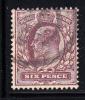 Great Britain Used Scott #135 6p Edward VII - 1902-1951 (Re)
