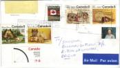 Bel Affranchissement  De 6 Timbres Différents Sur Lettre Du 1/2/2004 De Castlewood, Toronto, Vers La Belgique