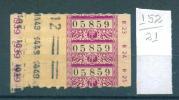 21K152 // 3 Tickets Billets TRAM Tramway PARIS De La TCRP En 1939 Coll Schnabel France Frankreich Francia - Tramways