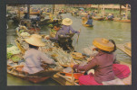 THAILAND  FLOATING FOOD MARKET  MAILED POST CARD To India #29104 - Food