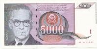 5 000 Din - 1991 - Yougoslavie