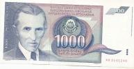 1 000 Din - 1991 - Yougoslavie