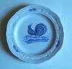 Henriot Quimper - Assiette Coq - Rooster Plate  - Haan  Bord - Hahn Teller (SSE309) - Quimper/Henriot (FRA)