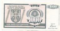 REPUBLIKA SRPSKA - 1000 DIN - 1992. - Bosnia Y Herzegovina
