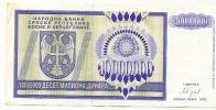 REPUBLIKA SRPSKA - 10 000 000 DIN - 1993. - Bosnia And Herzegovina