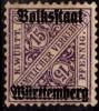 PIA - WURTEMBERG - 1919 : Tps De 1907-16 Surchargés - (Yv 105) - Wurttemberg