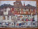 Schiele, Egon  Hauser Mit Trocknender Wasche 1917 Haags Gemeentemuseum The Hague Art Postcard - Peintures & Tableaux
