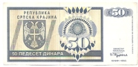 REPUBLIKA SRPSKA - 50 DIN - 1992. - Bosnia Erzegovina